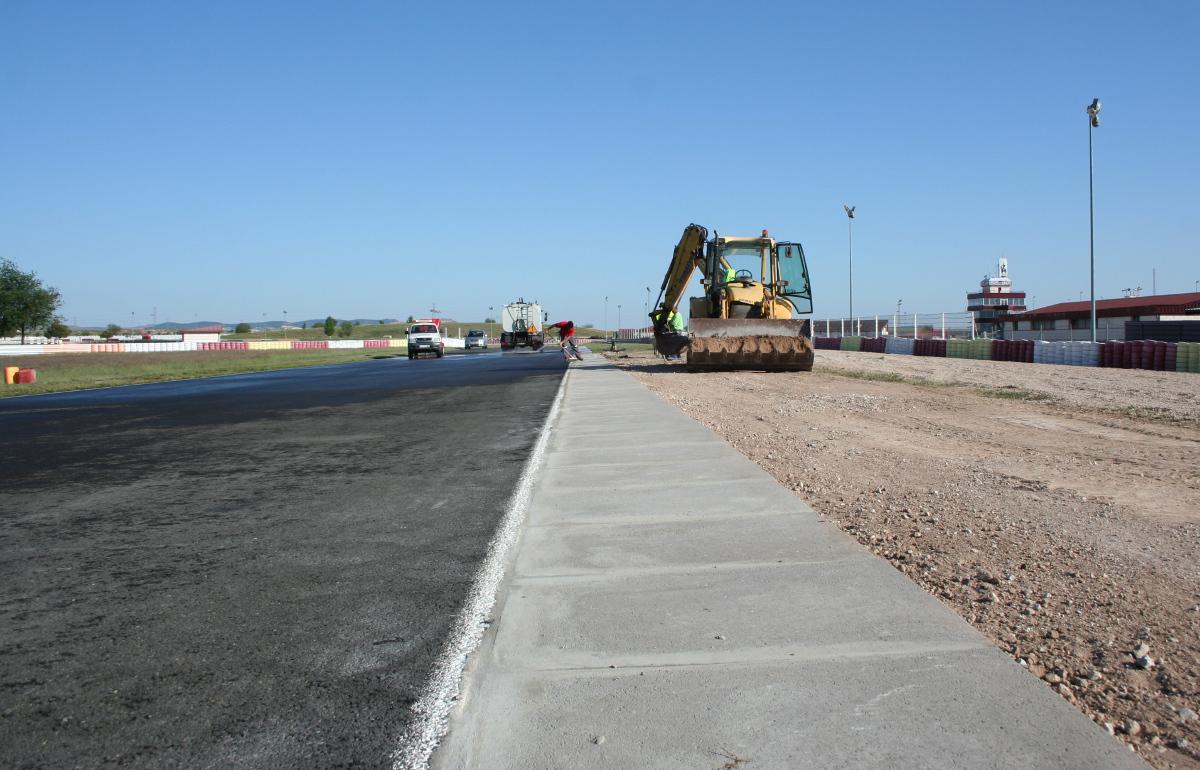 Obras en el Circuito de Velocidad de Albacete