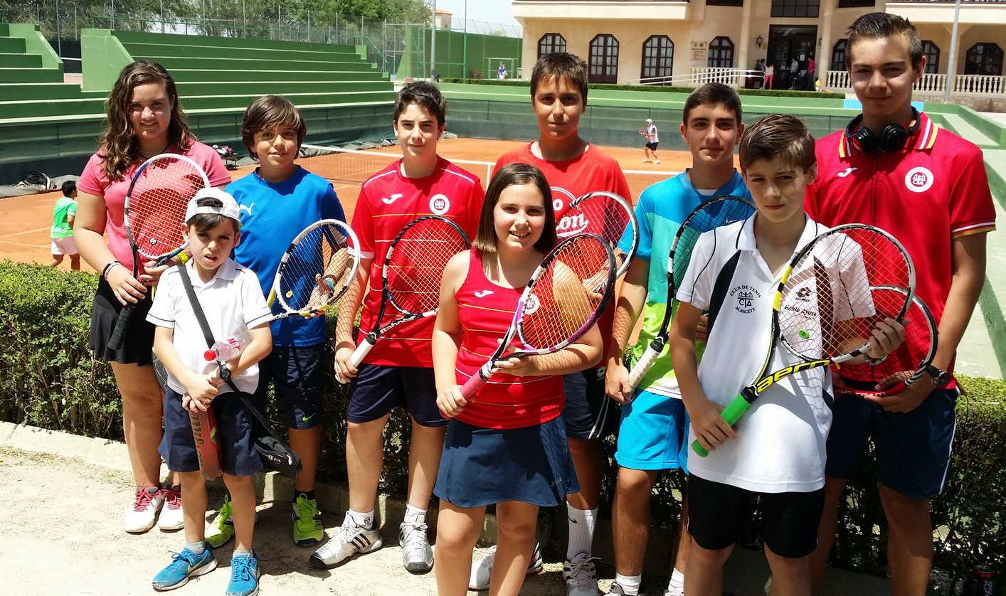 Participantes en el Club Tenis Albacete