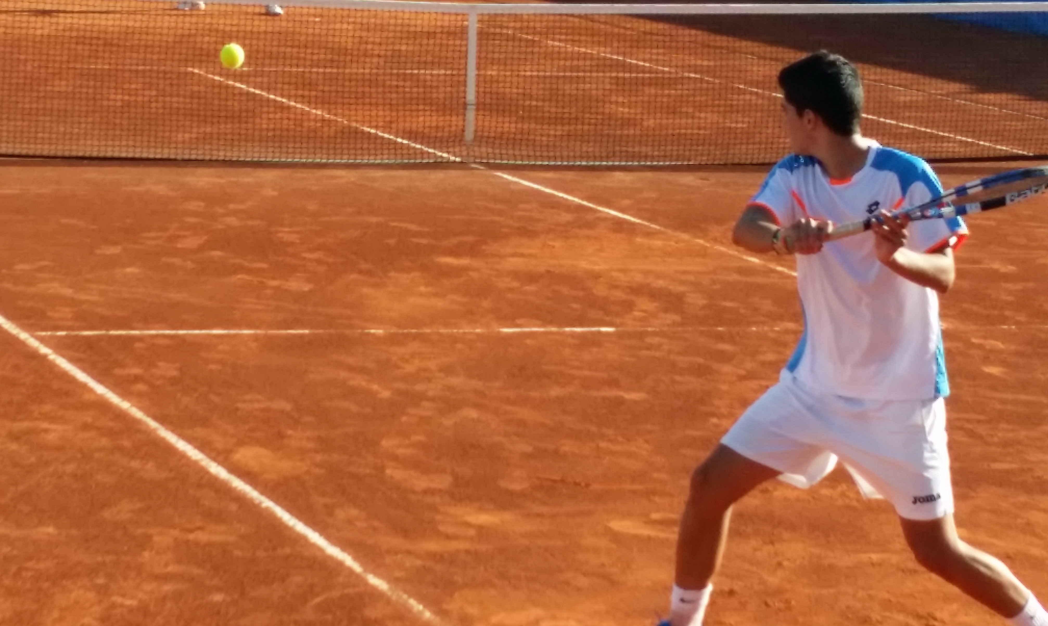Partido disputado en el Trofeo Internacional de Tenis Ciudad de Albacete