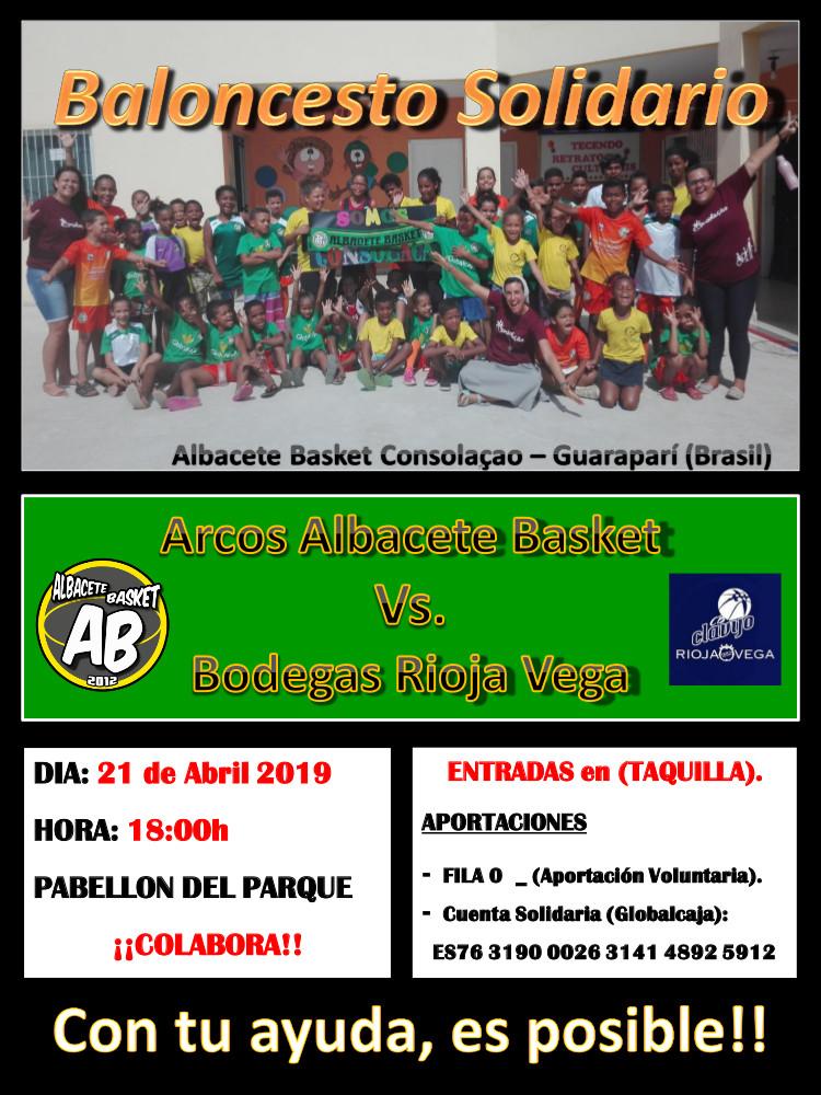 Partido solidario Albacete Basket
