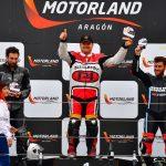 Pedro Pablo Piqueras en el podio de Motorland
