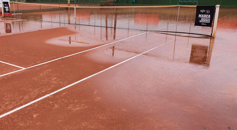 Pista de tierra batida del Club Tenis Albacete