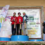 Podio femenino de la carrera de trail (Foto: Paco Villaescusa)