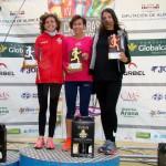 Podio femenino en la V Carrera Popular de Ossa de Montiel (Foto: Paco Villaescusa)