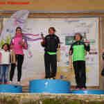 Podio femenino en la carrera popular de Alcaraz (Foto: Paco Villaescusa)