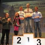 Podio masculino III Circuito Carreras Populares La Manchuela