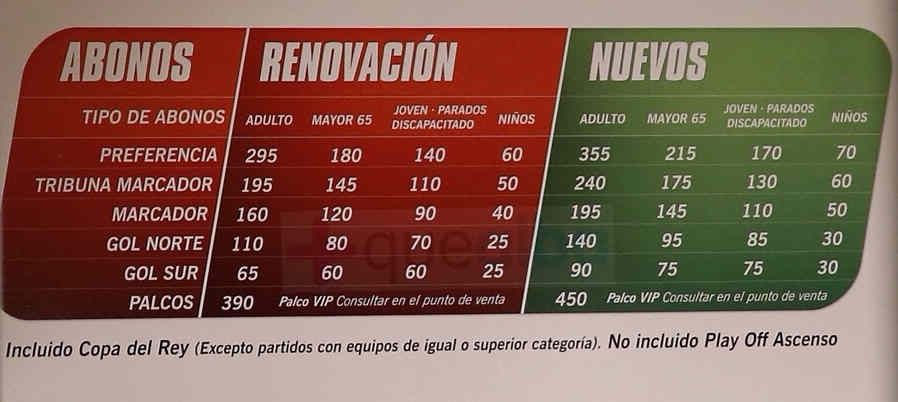 Precios abonos (Foto: https://twitter.com/2aB_AlbaceteBP)