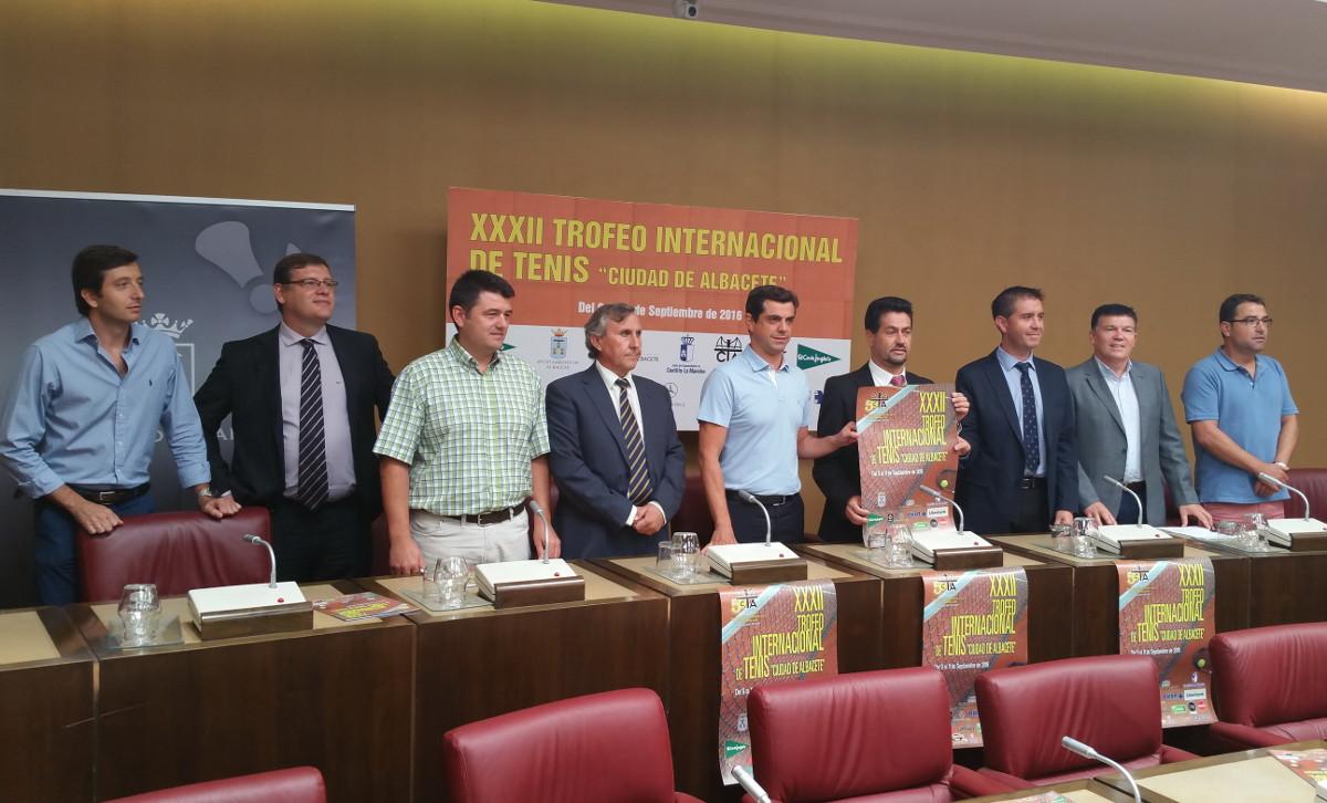 Presentación del 32 Trofeo Internacional de Tenis Ciudad de Albacete