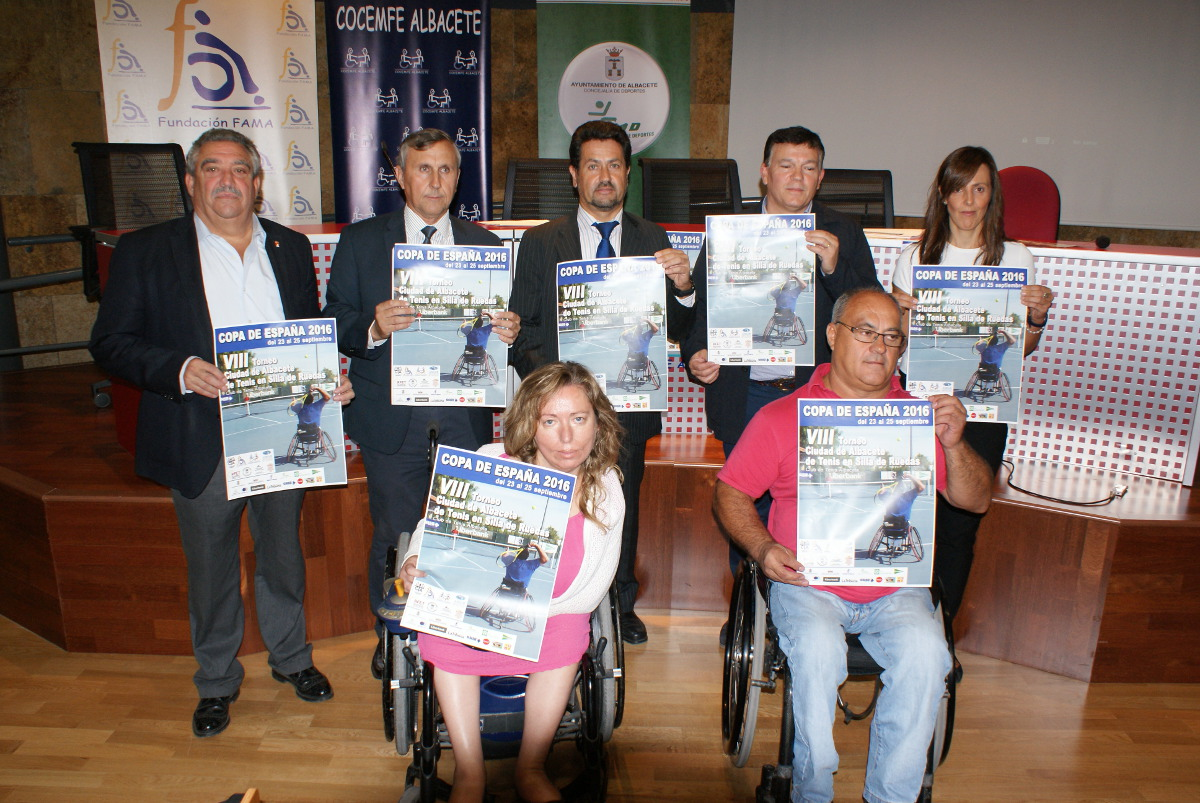 Presentación del Trofeo Ciudad de Albacete de Tenis en Silla de Ruedas