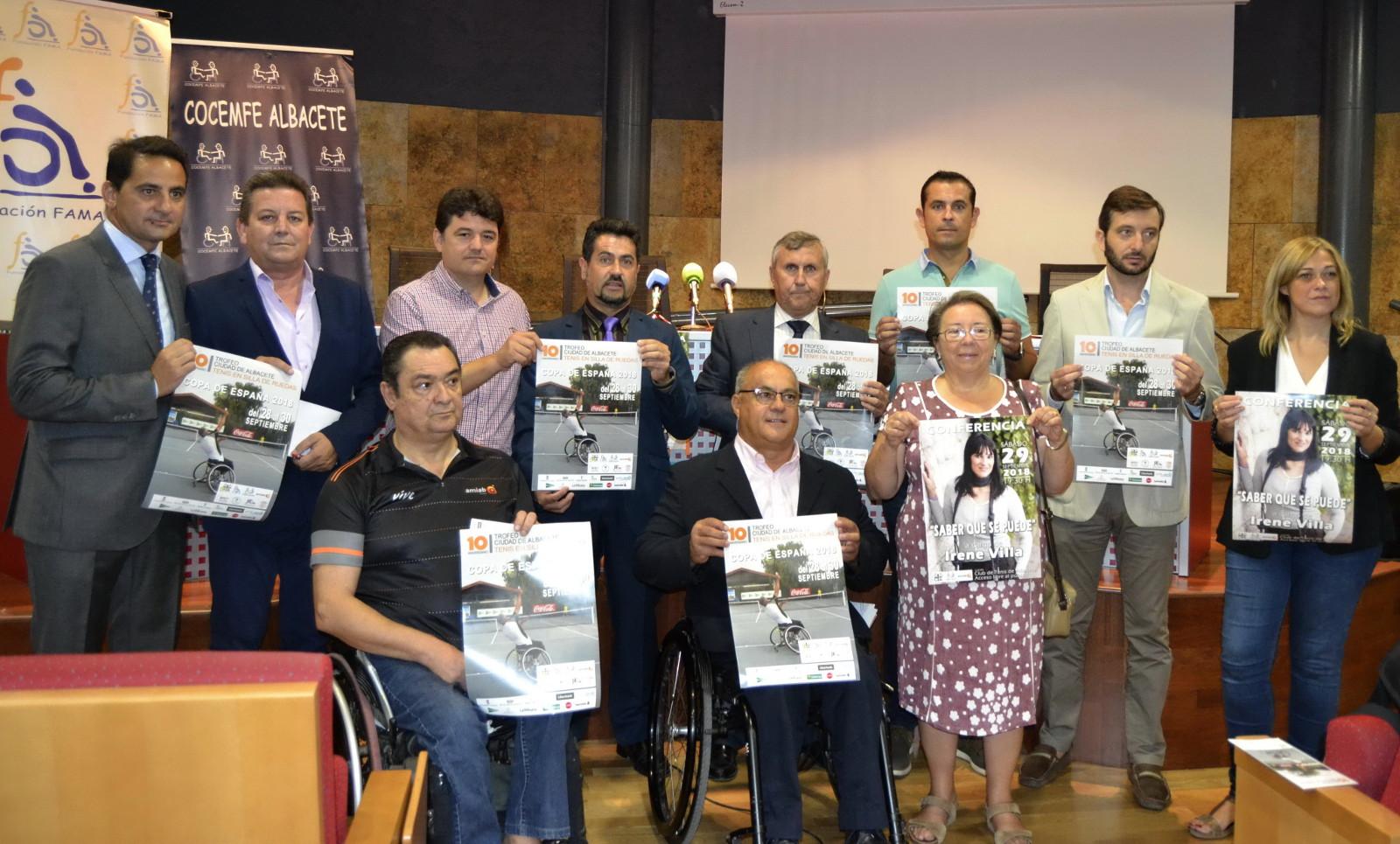 Presentación del X Trofeo Ciudad de Albacete de Tenis en silla de ruedas