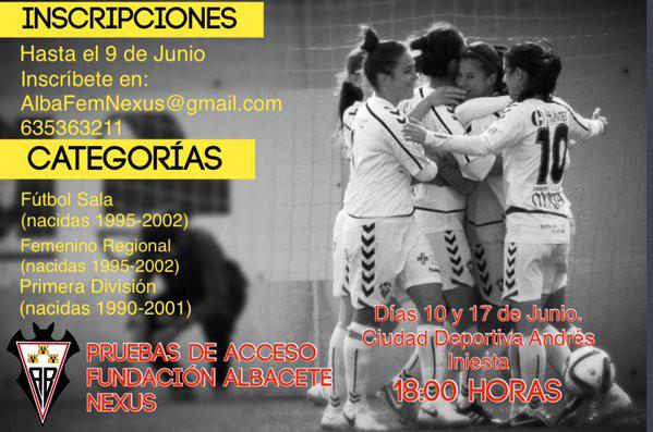 Pruebas de acceso al Fundación Nexus Albacete