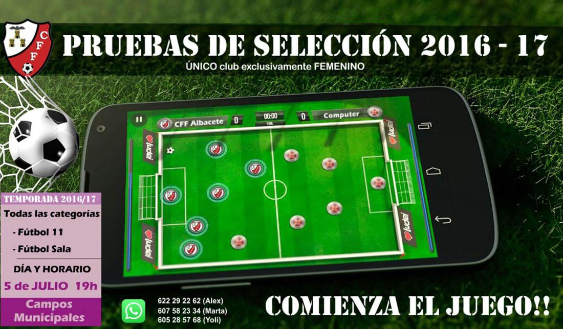 Pruebas de selección del CFF Albacete