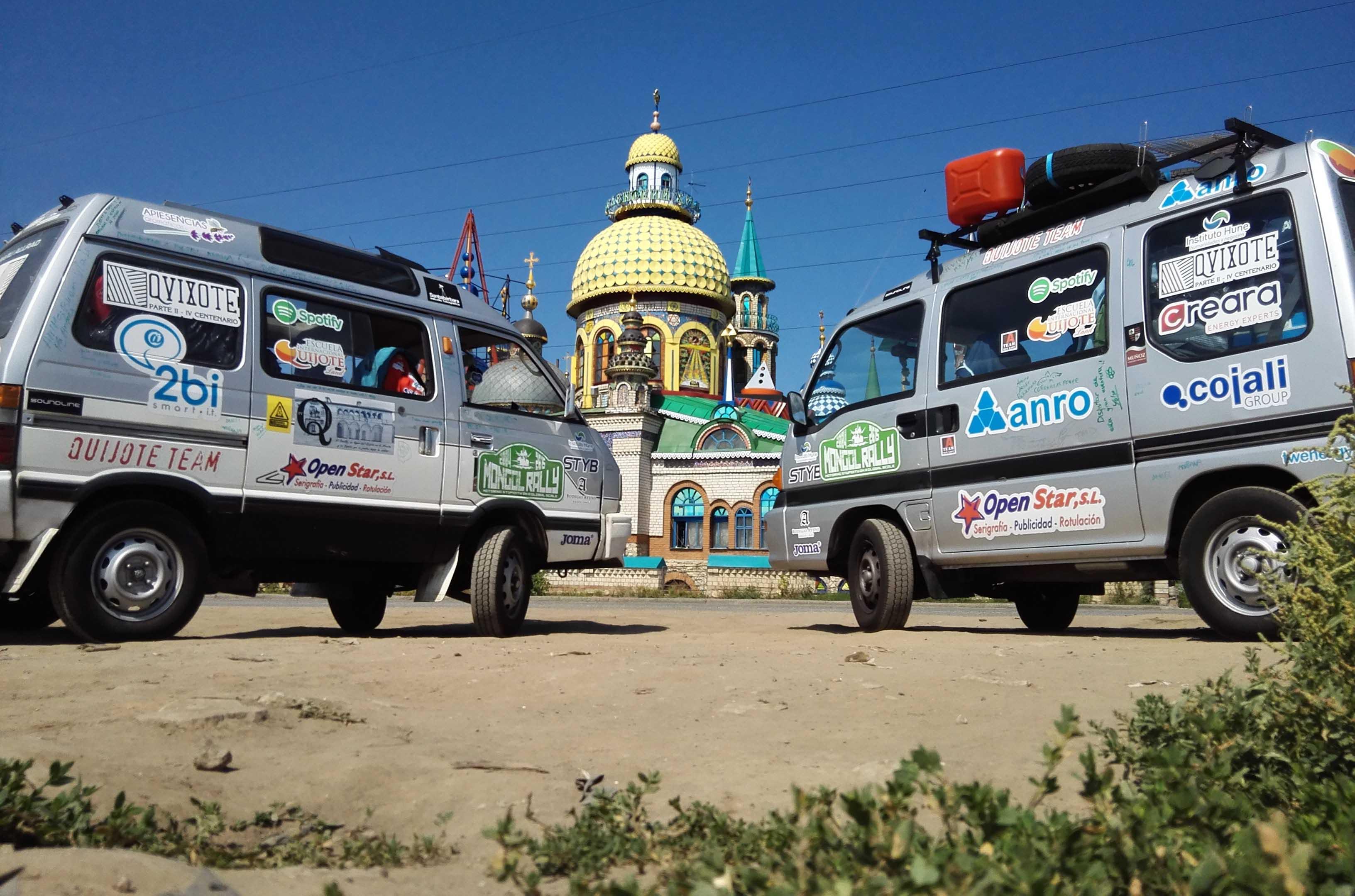 Quijote Team en el Templo de todas las religiones, en Kazan