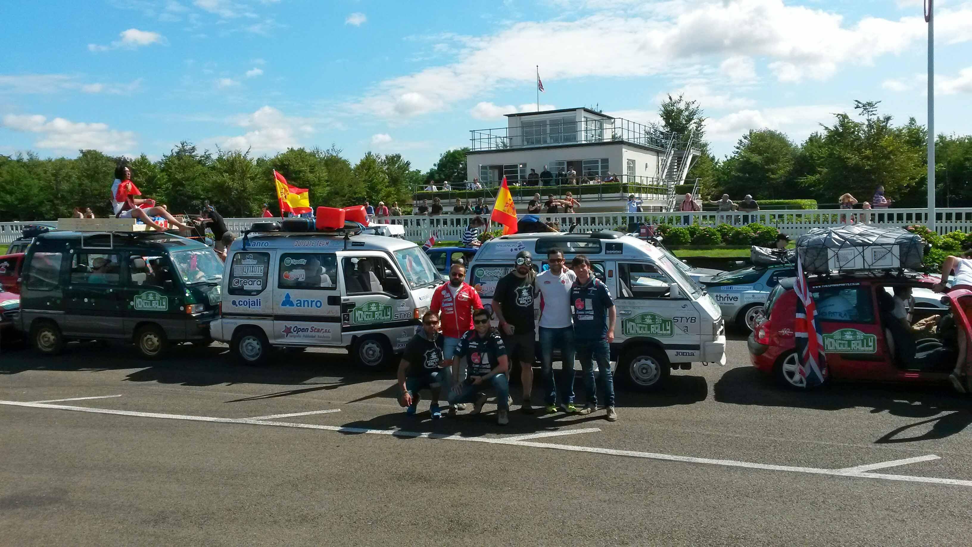 Quijote Team en la Salida oficial Circuito de Goodwood de Chichester en Reino Unido