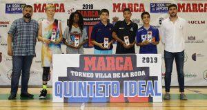 Quinteto ideal del XXII Marca Villa de La Roda