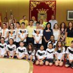Recepción a los integrantes del Club Trampolín Albacete