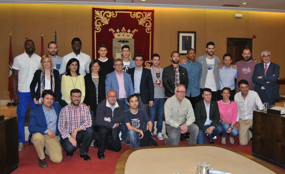 Recibimiento al Albacete Basket en el Ayuntamiento de Albacete