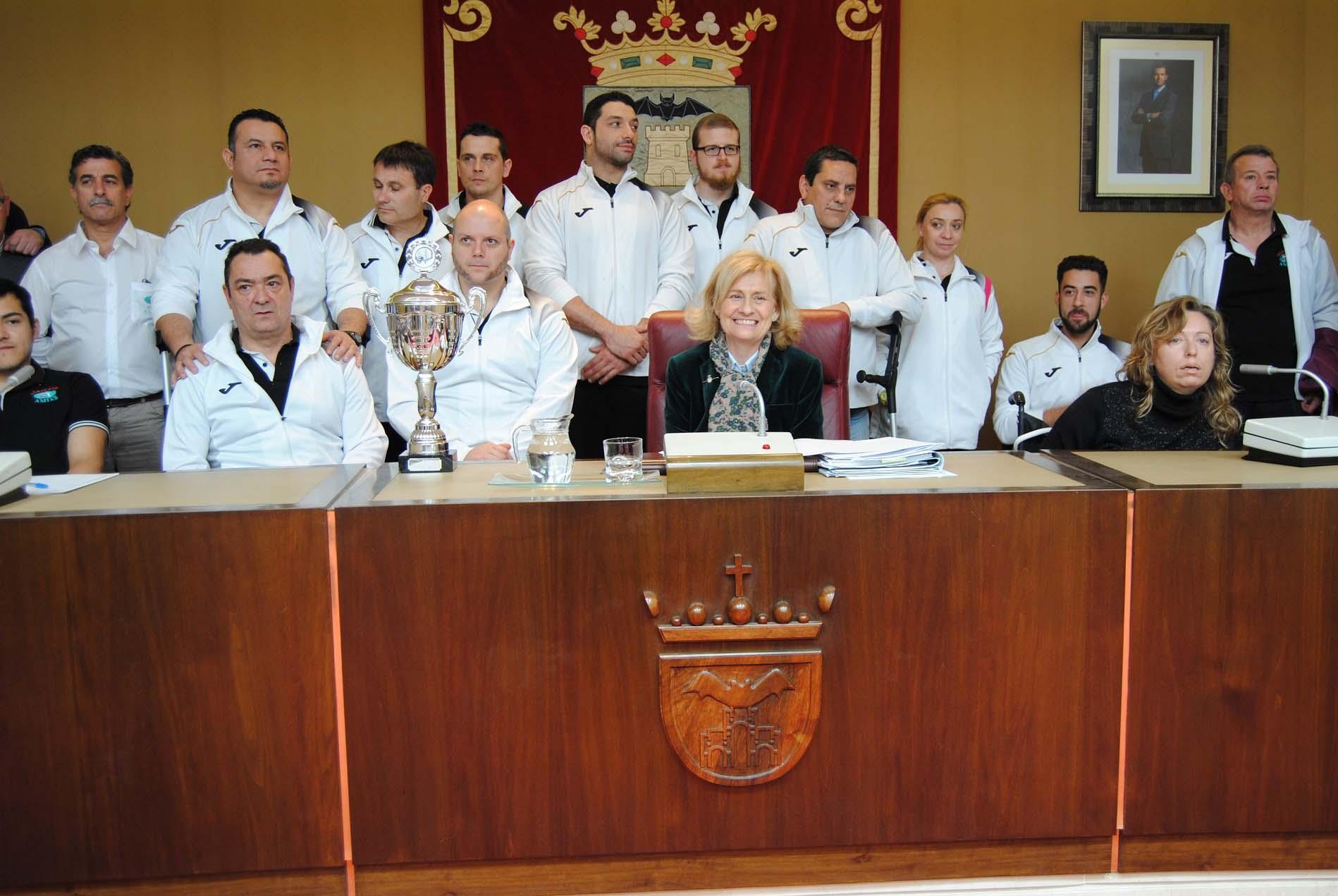 Recibimiento al BSR Amiab Albacete en el Ayuntamiento (Foto: Ayuntamiento)