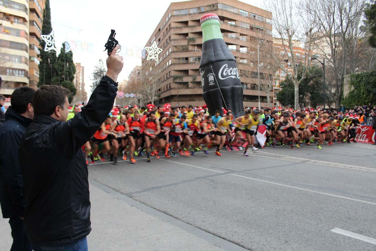 Salida XIV Carrera San Silvestre Albacete 2017