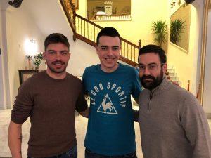 Juan Salmerón, Manuel Valero y Enrique Roldán