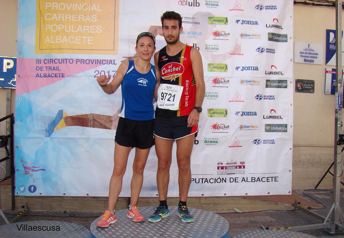Sandra Ruiz y Jesús Ángel Rodríguez en Nerpio