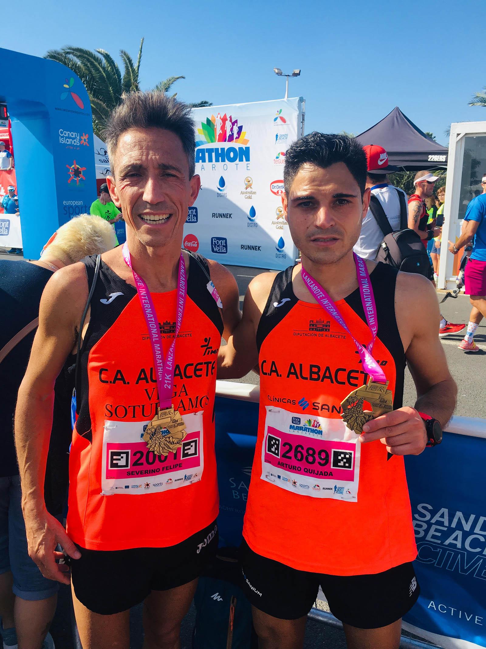 Severino Felipe y Arturo Quijada en Lanzarote