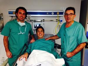 Severino Felipe en el quirófano