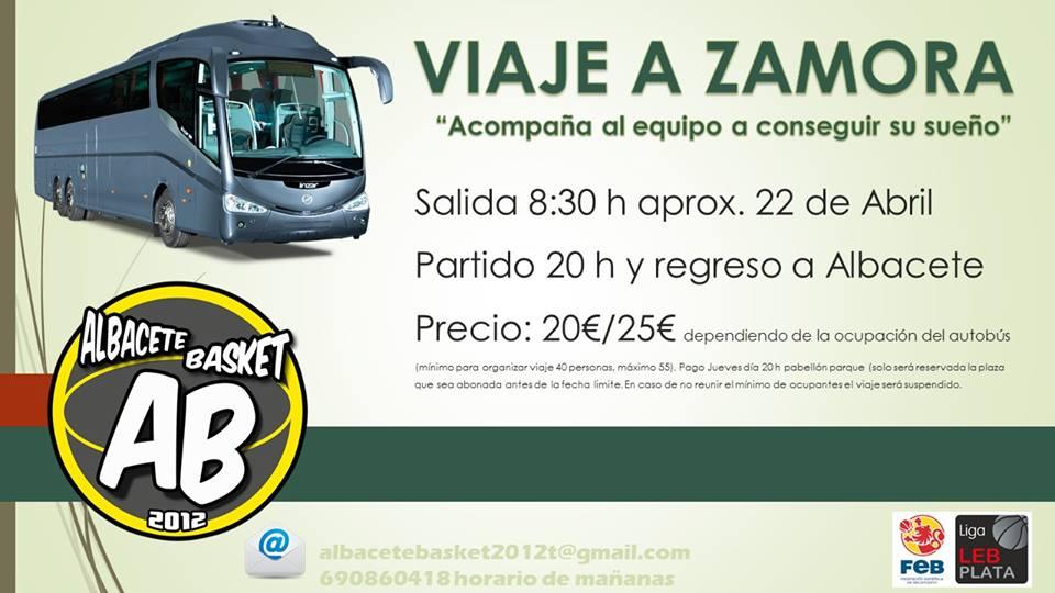 Viaje a Zamora con el Albacete Basket