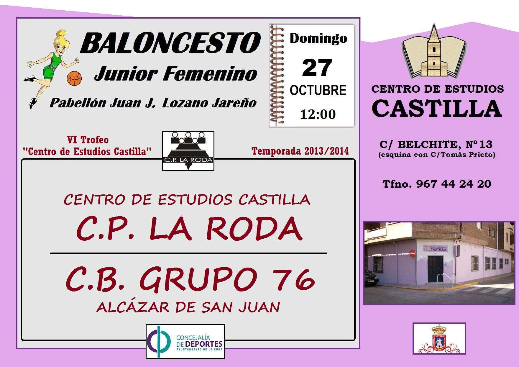 Cartel CP La Roda - CB Grupo 76